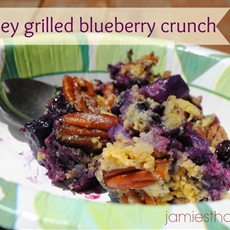 Smokey grilled blueberry crunch
