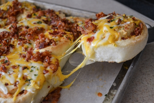 Cheesy Bacon Garlic Pinwheels