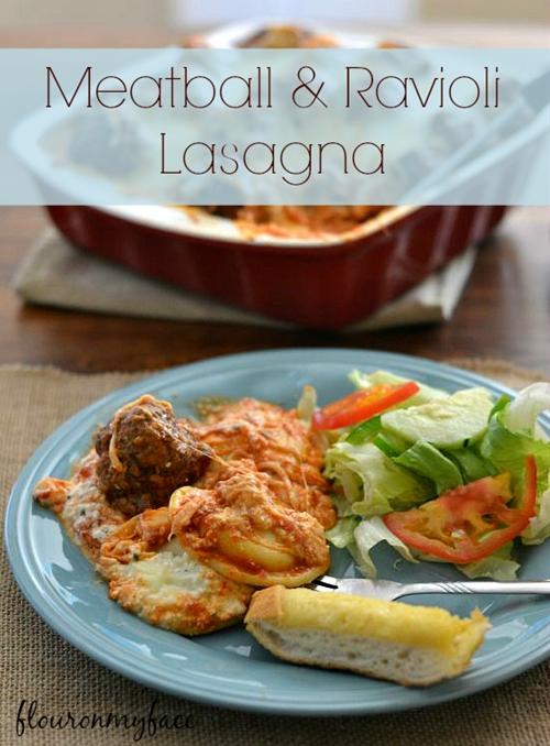 Meatball Ravioli Lasagna
