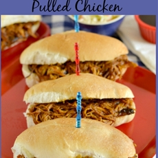 Easy Crock Pot Pulled Chicken #SundaySupper