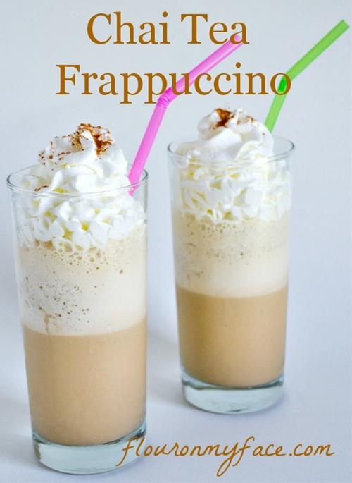 Chai tea frappuccino  copycat starbucks frappuccin