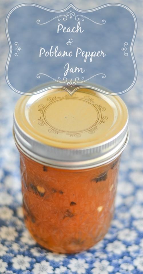 Peach Poblano Pepper Jam