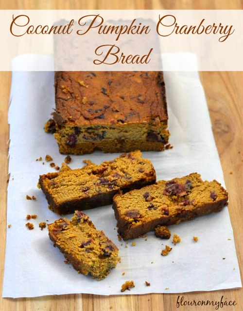 Coconut Pumpkin Cranberry Bread