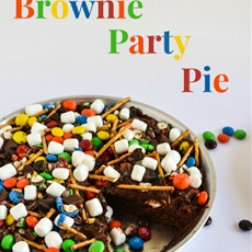 M&M Brownie Party Pie