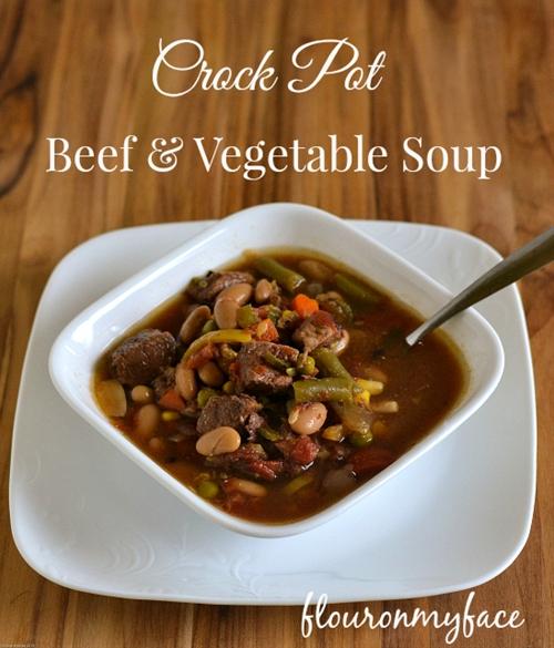 Easy Crock Pot Beef Vegetable Soup