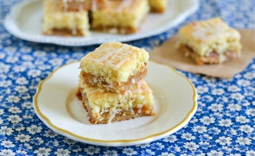 Peach Almond Jam Bars recipe