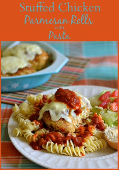 Stuffed Chicken Parmesan Rolls Kraft #FreshTake