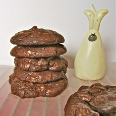 Triple Chocolate Chunky Cookies