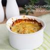 Scalloped potatoes gratin dauphinois