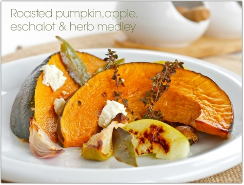 Roasted Pumpkin, Eschalot and Herb Medley
