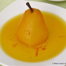 Vanilla and Saffron Pear Compote