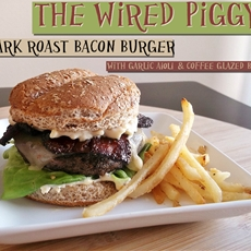 Dark Roast Bacon Burger