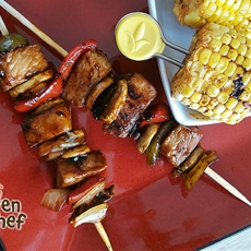 Hawaiian Grilled Shis Kabobs