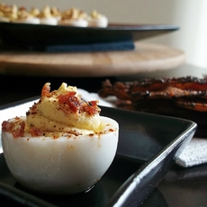 Bacon Chipotle Deviled Eggs