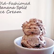 Old-Fashioned Banana Split Ice Cream
