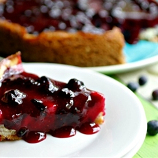 Boozy Blueberry Cheesecake