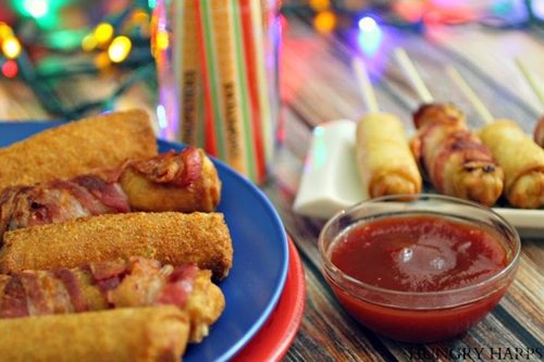 Bacon-Wrapped Egg Rolls & Spring Rolls