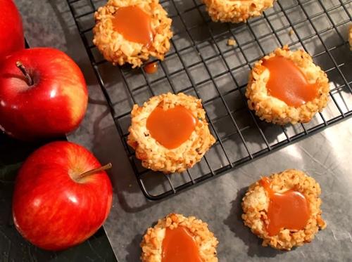 Caramel-Apple Thumbprint Cookies