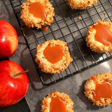 Caramel-Apple Thumbprint Cookies