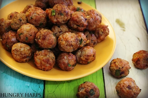 Triple Bacon Meatballs {Bacon Lovers}