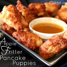 Apple Fritter Pancake Puppies!