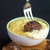 5 Napkin Meatballs with Rosemary Aioli