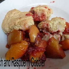 Peach and Raspberry Cobbler Recipe #cbias | Dragons and Fairy Dust