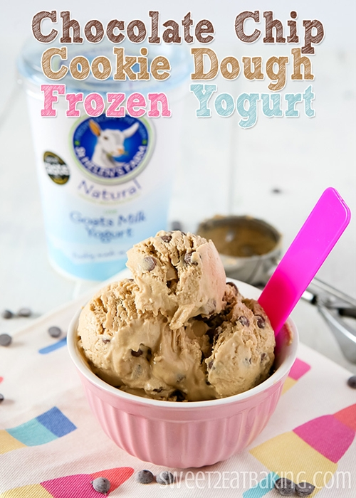 Chocolate Chip Cookie Dough Frozen Yogurt (Fro-Yo)