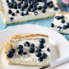 Blueberry & Lemon Curd Cream Tart