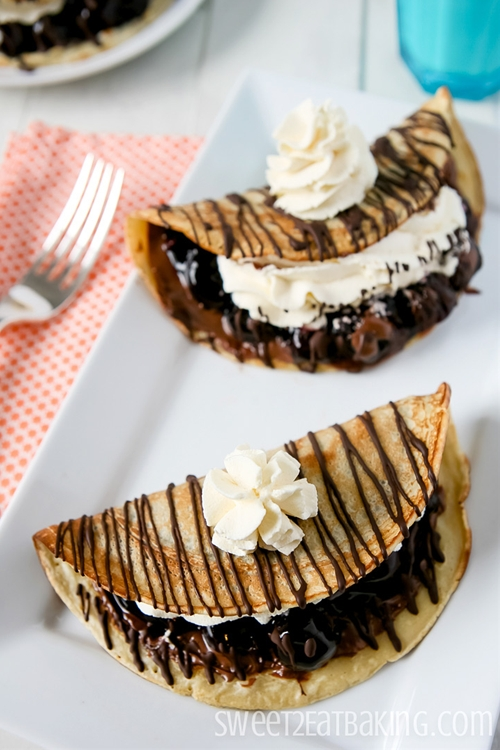 Black Forest Crepes with Nutella