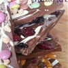 Triple topped chocolate bark