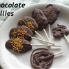 Chocolate freeform lollies