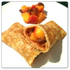 Pancake with Peach & Mango Compote: