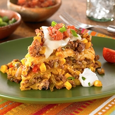 Slow Cooker Beef Tamale Casserole