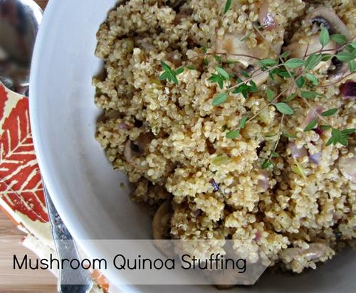 Mushroom Quinoa Stuffing