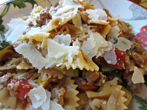 Beef and Pasta Skillet Primavera
