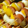 Sausage & Yellow Pepper Skewers