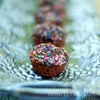 Mini Sprinkle Brownie Cupcakes