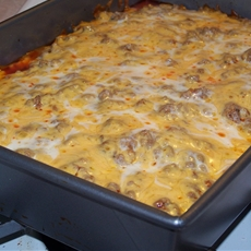 Diabetic Friendly Low Carb Meal: Beef Enchilada Pie