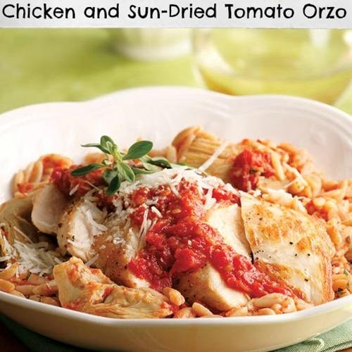 Chicken and Sun-dried Tomato Orzo