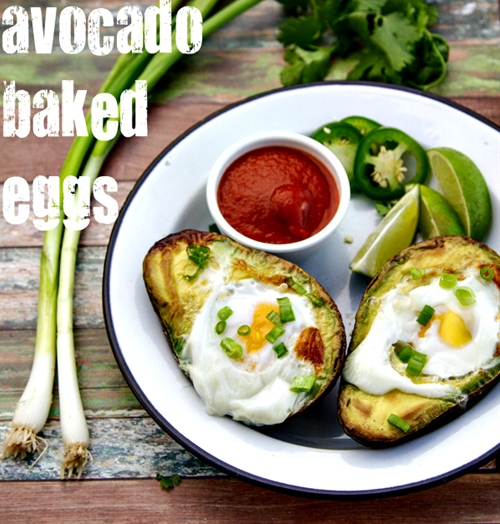 avocado baked eggs