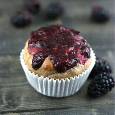 Greek yogurt berry muffins