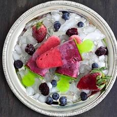 Triple berry fruit and yogurt pops!