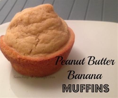 peanut butter banana muffins! - searching 4 saving