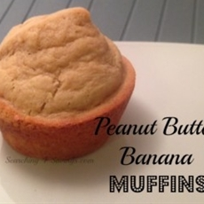 peanut butter banana muffins! - searching 4 saving