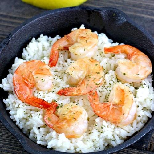 Garlic lemon and butter shrimp!