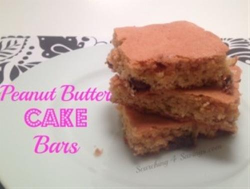 peanut butter cake bars - searching 4 savings