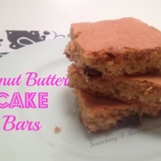 peanut butter cake bars - searching 4 savings