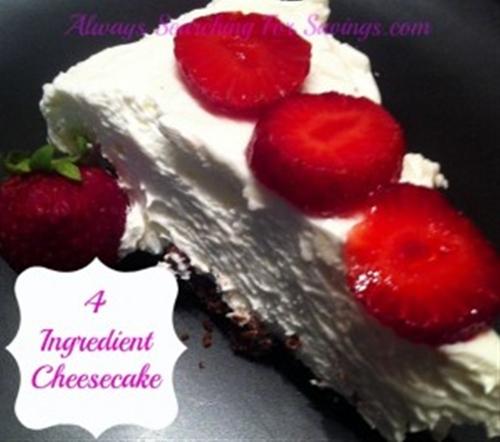 4 Ingredient No Bake Cheesecake!