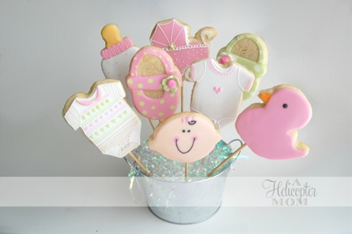 Baby Shower Cookies - Iced and Decorated Cookies